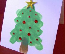 Как сделать открытку на Новый Год
