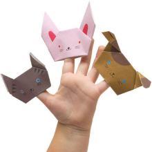 Пальчиковая кукла из бумаги