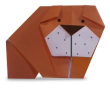 Схема оригами бульдог