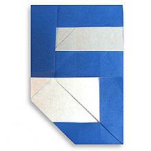 Схема оригами цифра 5 (пять)