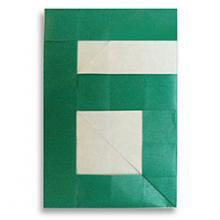 Схема оригами цифра 6 (шесть)