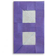 Схема оригами цифра 8 (восемь)