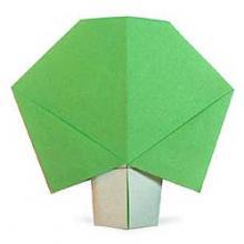 Схема оригами дерево