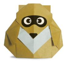 Схема оригами енот