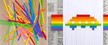 Фигурки из разноцветной бумаги