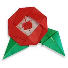 Схема оригами цветок для начинающих