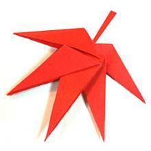 Схема оригами кленовый лист