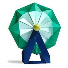 Схема Объемное 3д оригами колесо обозрения