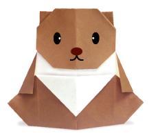 Схема оригами медвежонок