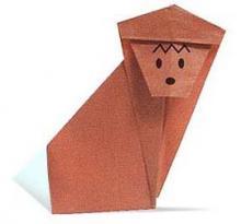 Схема оригами обезьяна
