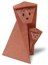 Схема оригами обезьяны