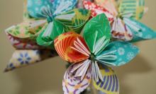Обьемный цветочек из бумаги
