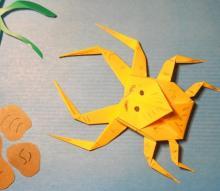 Оригами паук своими руками