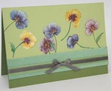 Цветы на открытке из бумаги