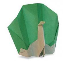Схема оригами павлин