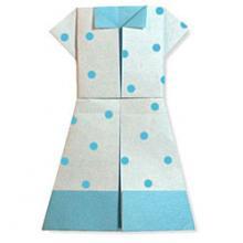 Схема оригами платье