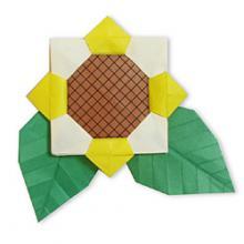 Модульное оригами подсолнух