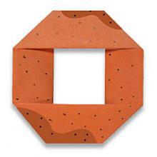 Схема оригами пончик