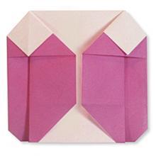 Схема оригами пуховик