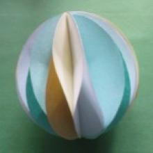 Новогодние шары из бумаги своими руками