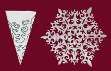Снежинки из бумаги схемы своими руками легкие